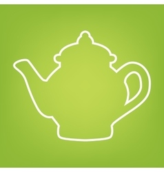 Tea maker line icon vector