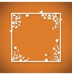 orange floral box vector image