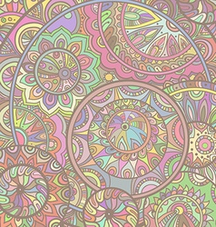 background pattern of the ornamental circles with vector image vector image