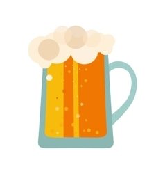 Beer glass cups icons set Bottle isolated logo vector image