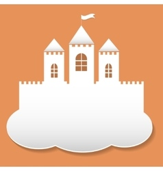 Big castle in paper cut style vector image vector image