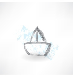 boat grunge icon vector image vector image