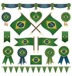 brazil flag ornaments vector image vector image