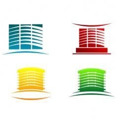 Buildings symbols vector