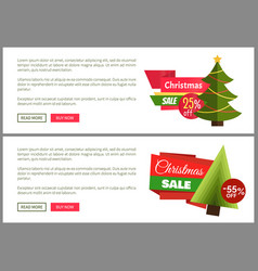 Christmas sale buy now posters vector