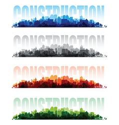 construction banners vector image