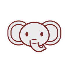 cute elephant face image vector image