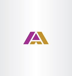 Dark yellow and purple letter a logo icon vector