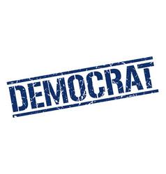 Democrat stamp vector