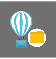 Email balloon folder file design vector