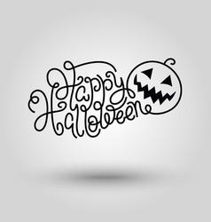 Hand lettering Happy Halloween vector image vector image