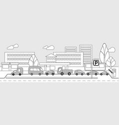 Monochrome city parking zone concept vector