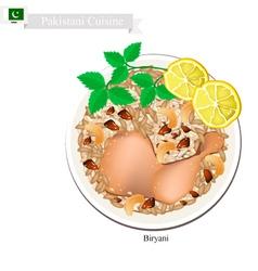 Pakistani chicken biryani vector