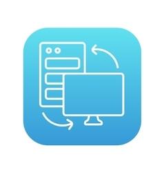 Personal computer set line icon vector image vector image