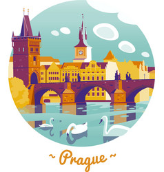 Prague Charles Bridge vector image vector image