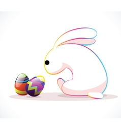 Rabbit easter vector