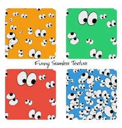 Set of colored funny seamless patterns vector image