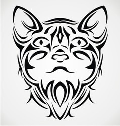 Tribal Cat Face vector image vector image