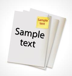 vector paper banner vector image