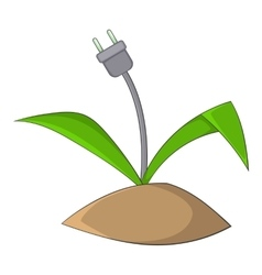 Wire plug icon cartoon style vector