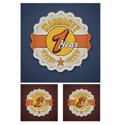 Warranty term fabric badge vector