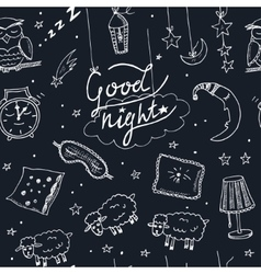 Doodle seamless pattern with images about good vector image