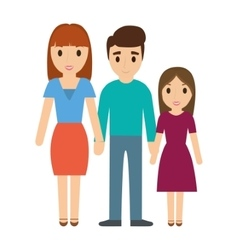 Parents and daughter family design vector