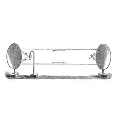 Reflection sound vintage engraving vector image