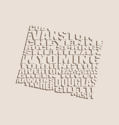 Word cloud map of wyoming state vector