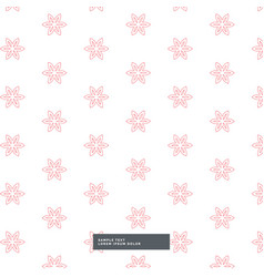 Cute flower fabric pattern background vector