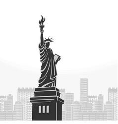 New york statue of liberty symbol vector
