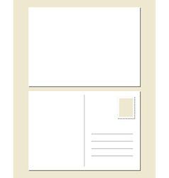 Blank postcard vector