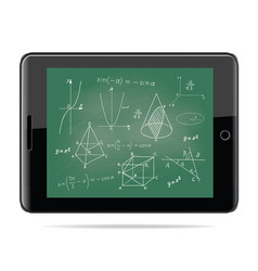 tablet computer with mathematics vector image