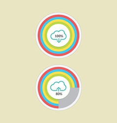 Cloud download and upload 2 vector