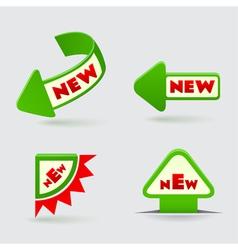 3d green arrow labels vector image