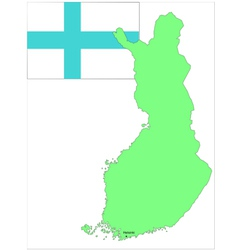 6136 finland map and flag vector image vector image