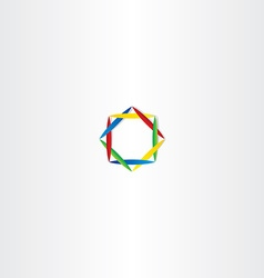 Abstract business logo square circle colorful vector