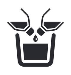 mixing liquid icon vector image
