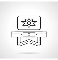 Flash video flat line icon vector image