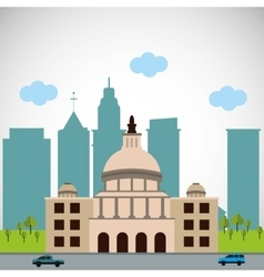 City and building icon design vector