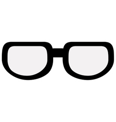 Black classic glasses vector