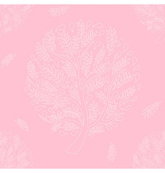 White tree on pink background vector