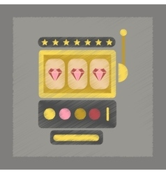 Flat shading style icon slot machine vector