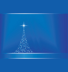abstract blue background with christma vector image