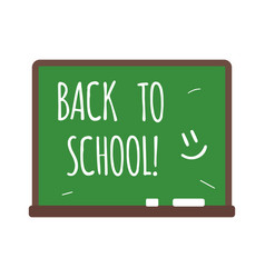 Back to school text on chalkboard vector
