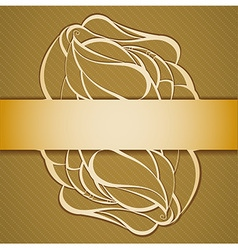 Background with ribbon vector image