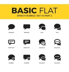 Basic set of speech bubble icons vector