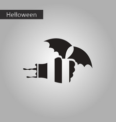 Black and white style icon halloween hand bat vector