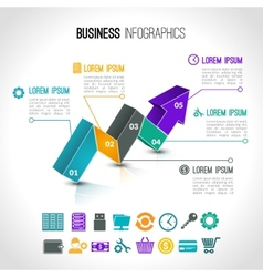 Business charts infographic vector image