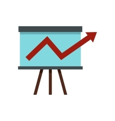 Business growing chart presentation icon vector